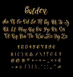 Gold font script vector