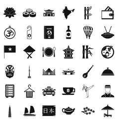 Good dish icons set simple style vector