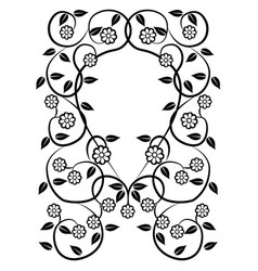 Graphic element flowers and frame 3 vector