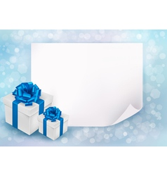 holiday background with sheet paper vector image