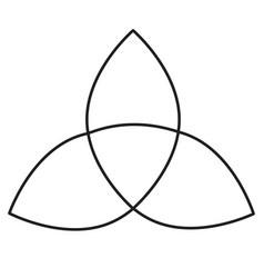 Holy trinity icon vector