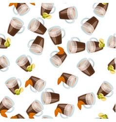Hot chocolate cup vector