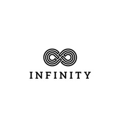 infinity line logo design concept vector image