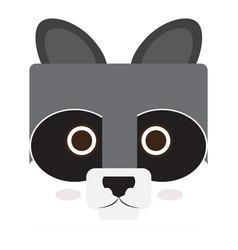 Isolated raccoon face vector