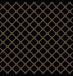Lattice gold pattern with trendy lattice on a vector