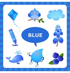 Learning Blue color vector image