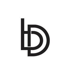 Letters bd linked overlapping logo vector