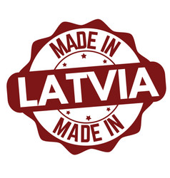 made in latvia sign or stamp vector image