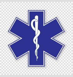 Medical symbol emergency vector