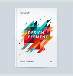 Minimalistic cover design template vector