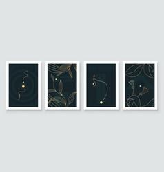 Modern abstract botanical organic art vector