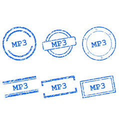 mp3 stamps vector image