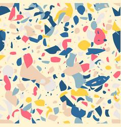 multicolored terrazzo flooring seamless pattern vector image