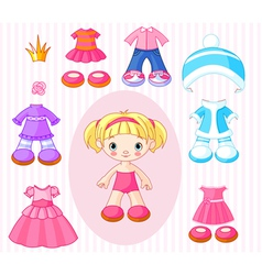 paper doll with vector image