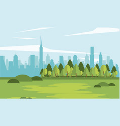 parkscape with shape city vector image