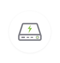 power bank icon portable charger vector image