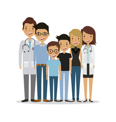 Professional medical people design vector