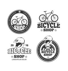 Retro bicycle shop bike sport labels vector image