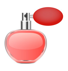 Retro perfume bottle mockup realistic style vector