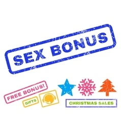 Sex Bonus Rubber Stamp vector
