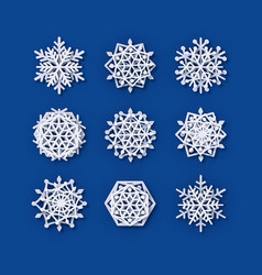 Snowflakes collection paper snowflake vector