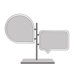 speech bubble signal traffic vector image