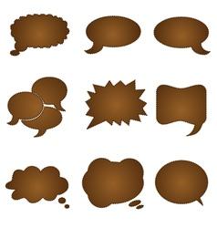 Speech chocolate bubble vector
