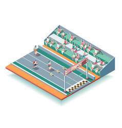 Sports rollers competitions isometric background vector