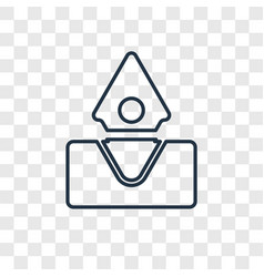 submerge concept linear icon isolated on vector image