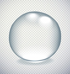 Transparent drop with shadow and reflection vector
