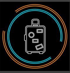 travel luggage icon - travel suitcase vector image