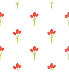 Tulips pattern seamless vector