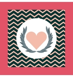 Wings and Heart shape icon Love design vector
