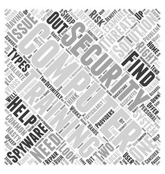 Computer Security Training Word Cloud Concept vector image vector image