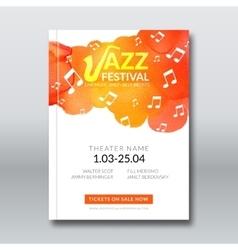 Jazz music poster templates set Hand drawn vector image