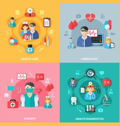 medicine flat design concept vector image