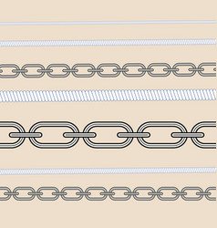 rope knots marine cord cable seamless pattern vector image
