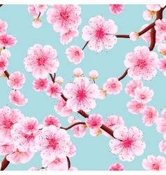 Seamless of pink Sakura EPS 10 vector image vector image