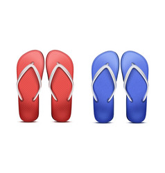two pair of flip-flops vector image