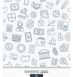 Banking or finance wallpaper Black and white bank vector image