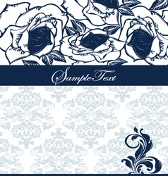 elegant blue invitation card vector image