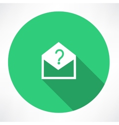 Envelope with a question mark vector