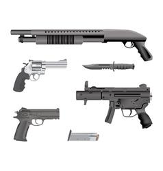 Handgun collection vector