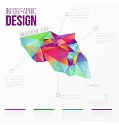infographic with colorful abstract 3d vector image vector image