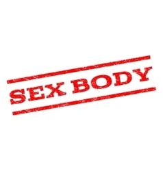 Sex Body Watermark Stamp vector image