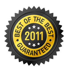 best of the best 2011 label vector image vector image