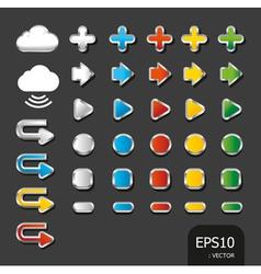 button color icon vector image vector image
