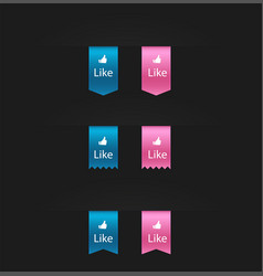 flat design social network rating sticker icon vector image vector image