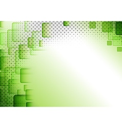 Green Squared Abstract Background vector image vector image