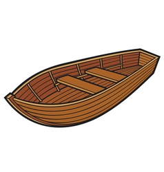 wooden boat vector image